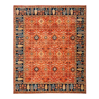 """New Red Traditional Hand-Knotted Rug - 8'3"""" x 9'10"""""""