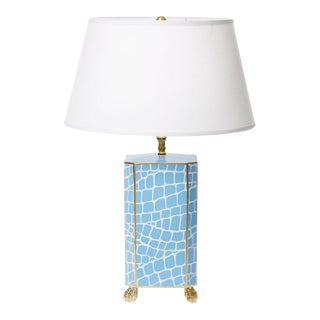 Blue Crocodile Pattern Lamp