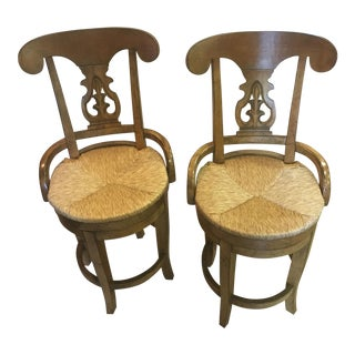 Swivel Bar Stools - A Pair