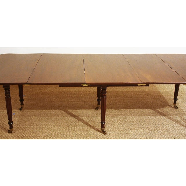 ENGLISH REGENCY DINING TABLE IN THE MANNER OF GILLOWS - Image 7 of 8