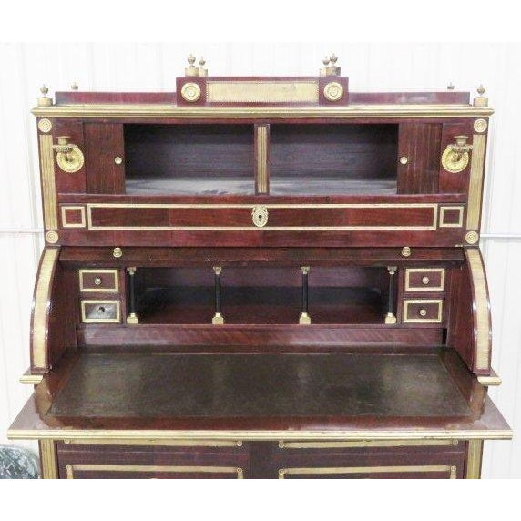 Antique Russian Neoclassical Style Cylinder Desk - Image 2 of 9 - Antique Russian Neoclassical Style Cylinder Desk Chairish