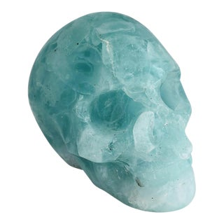 Handmade Folded Glass Human Skull Art