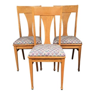 Vintage Oak Dining Chairs - Set of 3