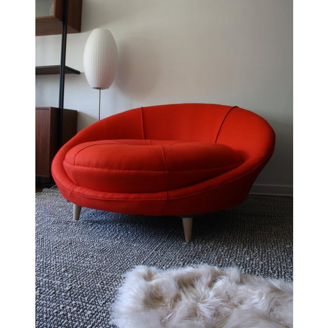 Milo Baughman Round Chaise Lounge - Image 4 of 10