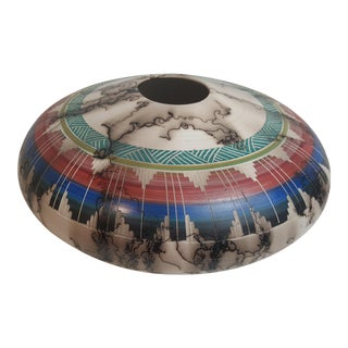 Navajo Etched Horse Hair Pillow Pot