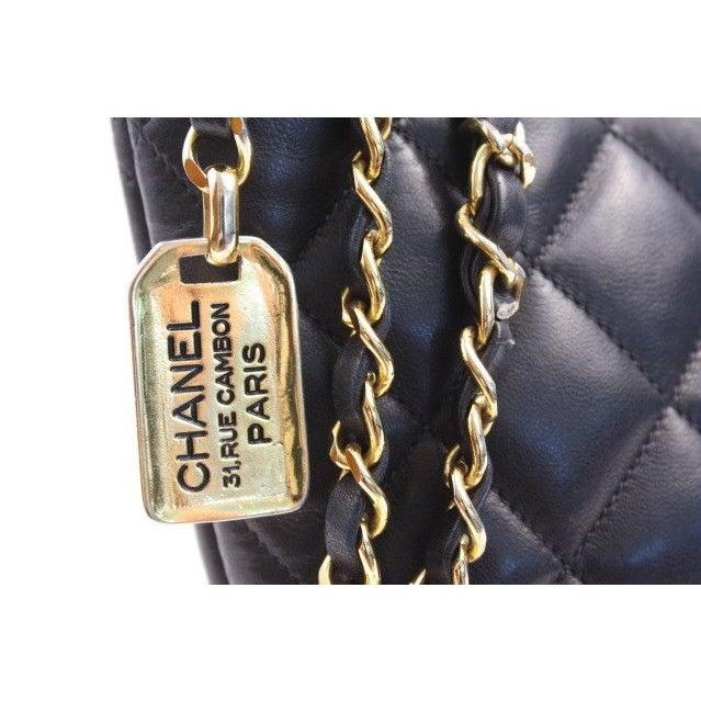 Image of Vintage Chanel Black Bucket Handbag