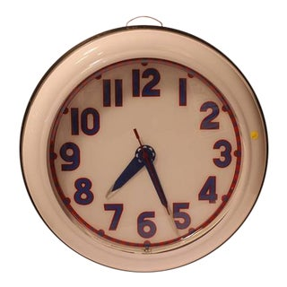1930s Cleveland Neon Clock
