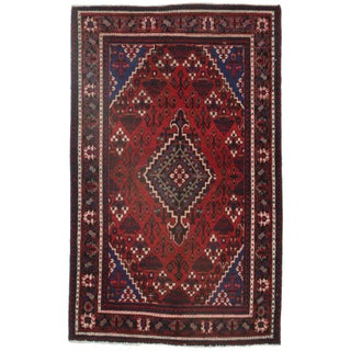RugsinDallas Persian Hamadan Hand Knotted Wool Rug - 4′ × 6′5″