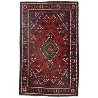 Persian Hamedan Hand Knotted Wool Rug - 4′ × 6′5″