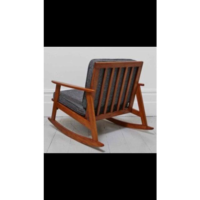 Gray Mid Century Modern Danish Style Rocking Chair Chairish
