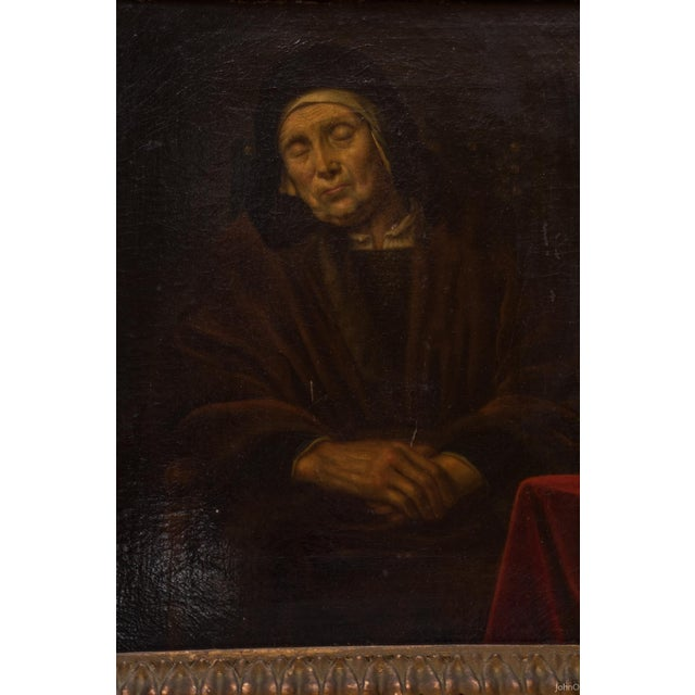 Abraham VanDyck Painting - Old Woman - Image 3 of 4