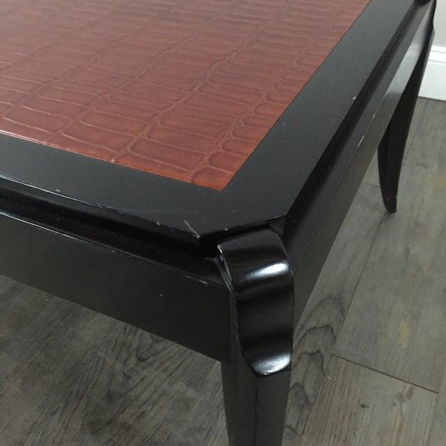 Image of Interior Crafts Faux Crocodile Coffee Table