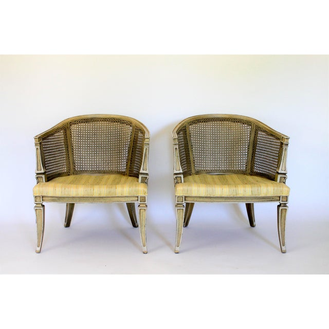 Caned Barrel Chairs - A Pair - Image 7 of 11