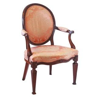 George III Mahogany Open Armchair