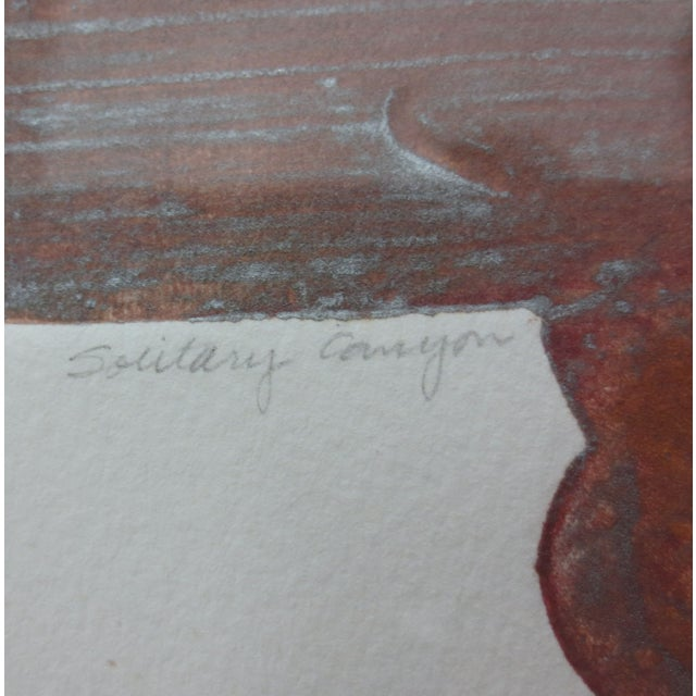 Janet Jones Framed rint on Paper - Solitary Canyon - Image 5 of 5