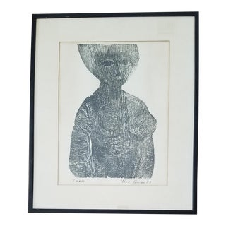 """1963 Alec Cowan """"Torso"""" Drawing"""