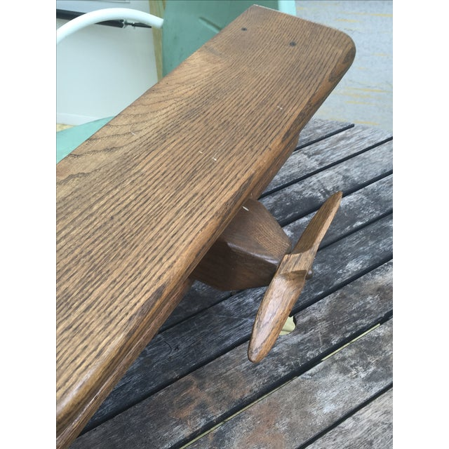 Vintage Wooden Airplane, Mid Century Modern Style - Image 5 of 6
