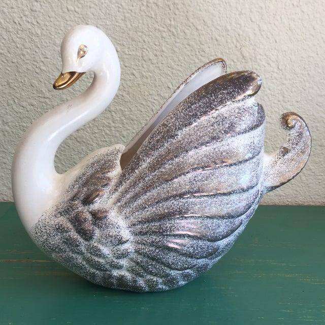 Image of Vintage Swan Vase