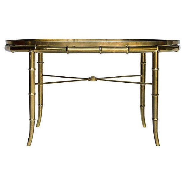 Mastercraft Faux Bamboo Coffee Table Chairish