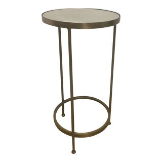 Contemporary Brass & Mirrored Side Table