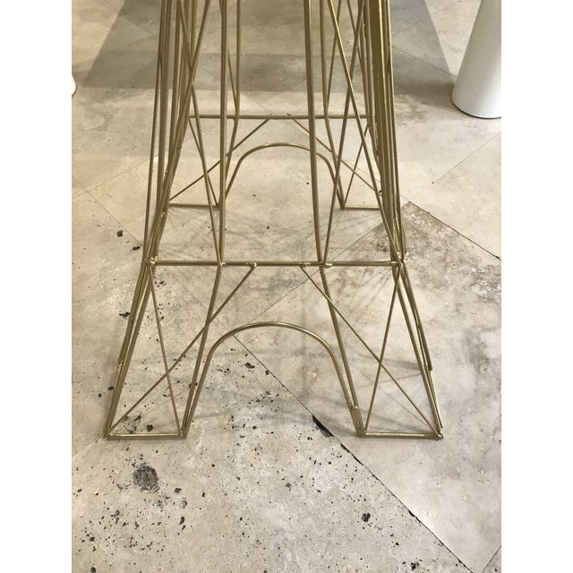 "Giant Eiffel Tower Sculpture Iron & Rare 46"" tall 18"" wide. - Image 7 of 11"