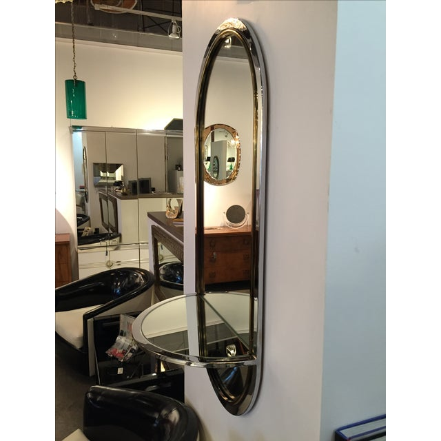 Chrome and Brass Mirror with Console by DIA - Image 4 of 6