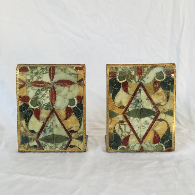 Image of Vintage Multicolor Florentine Bookends