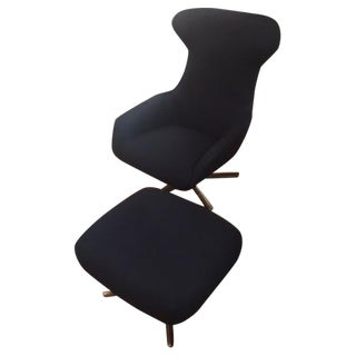 Piero Lissoni Lounge Chair & Ottoman