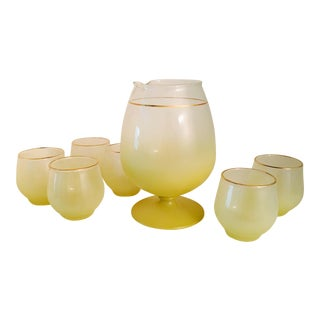 Lemon Yellow Glasses & Pitcher - Set 6