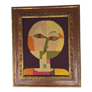 Vintage Paul Klee Style Modernist Needlepoint