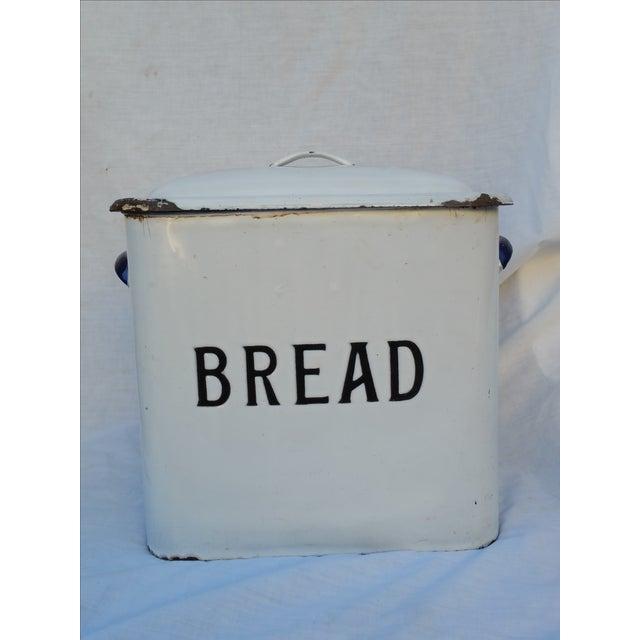 Image of English 30's Enamel Bread Bin