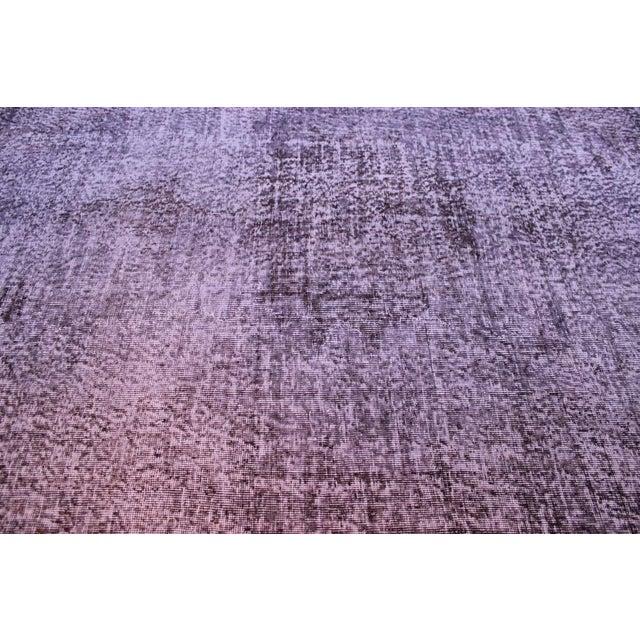 Gray Overdyed Turkish Area Rug - 6′ × 9′6″ - Image 8 of 9