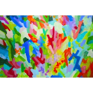 Abstract Colorful Acrylic Painting