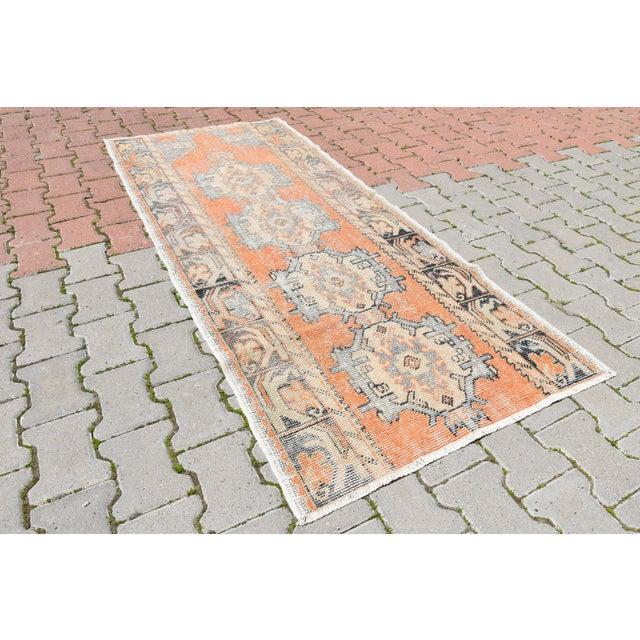 Antique Handmade Oushak Runner - 2′11″ × 6′9″ - Image 3 of 6