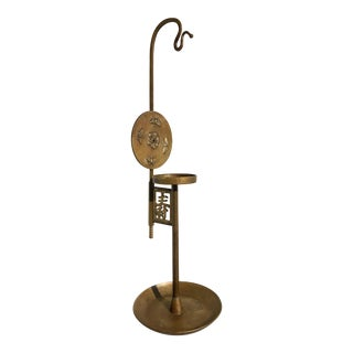Korean Bronze and Brass Candlestick, early 20th century
