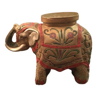Golden Elephant Table Stand