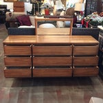 Image of Dixie Mid-Century Walnut Dresser & Mirror