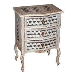 Petite Painted 19th Century French Chest
