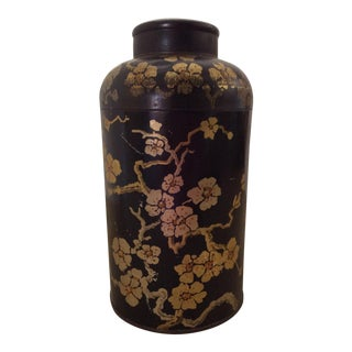 Vintage Tole Chinoiserie Tea Caddy