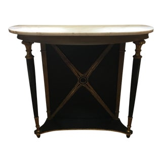 French Empire Marble Top Console Table