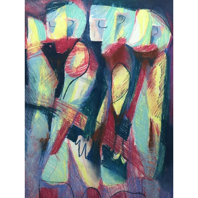 Pastel Abstract Figures in a Line Drawing - Image 2 of 7