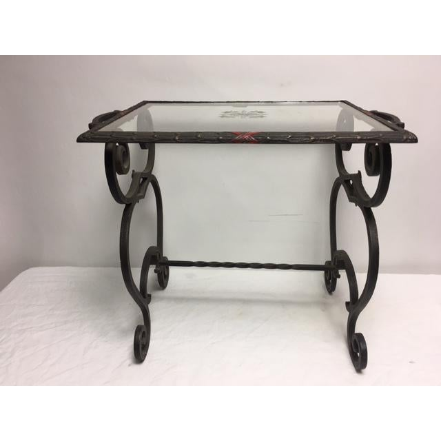 Art Deco Iron Side Table - Image 9 of 11