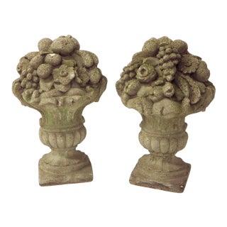 Stone Floral Garden Baskets
