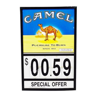 Camel Cigarettes Metal Gas Station Advertising Sign