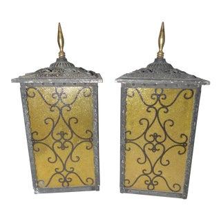 Moe Gothic Porch Lantern - A Pair
