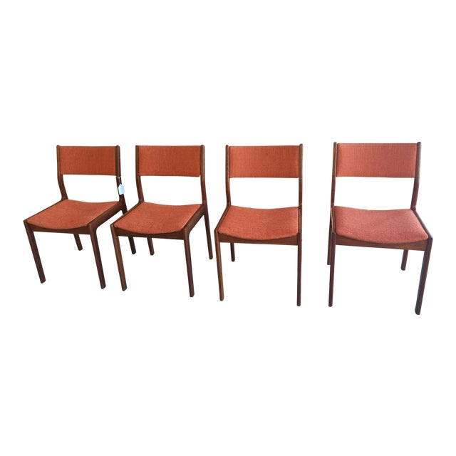 Mid-Century Teak Dining Chairs - Set of 4 - Image 1 of 8