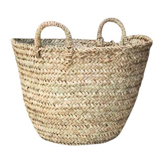 Moroccan Woven Tote Basket