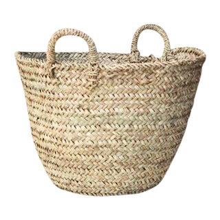 Moroccan Woven Tote Basket