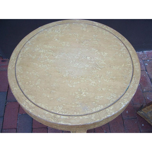 Image of Pair of Round Gueridon Side Tables