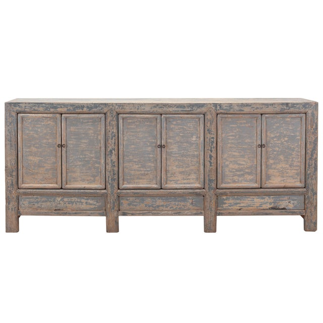 Image of Antique Sarreid LTD Chinese Pine Cabinet